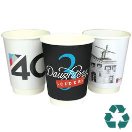 Recyclable double walled paper cup
